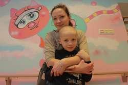 Agata Wasilewska z siedmioletnim synkiem