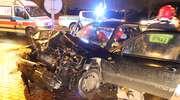Wypadek na al. Warszawskiej w Olsztynie. Trzy osoby ranne