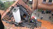Pożar plebanii w Barczewie. Na miejscu 9 zastępów straży