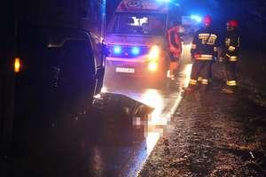 Tragiczny wypadek w Gąskach. Kobieta zginęła pod kołami ciężarówki