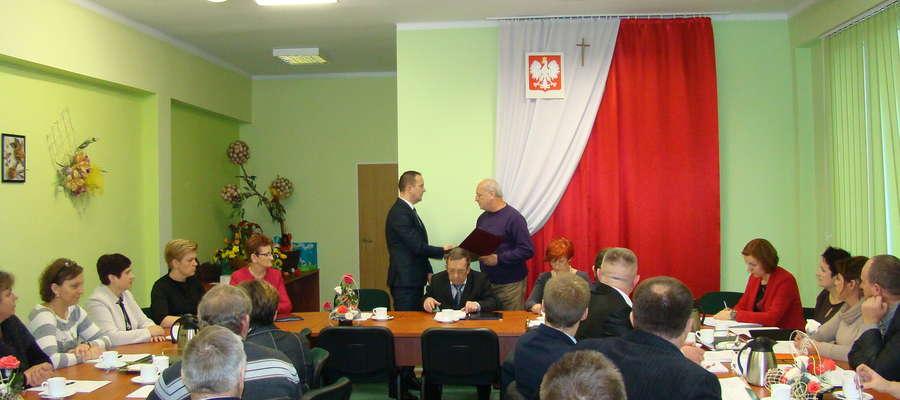 Wręczenie aktu nominacyjnego na wójta Gminy Kuczbork.