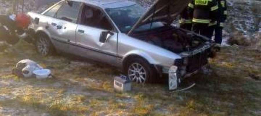 Do wypadku doszło na trasie Orzysz-Pisz