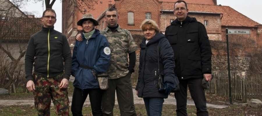 Odkrywcy: od lewej Krzysztof Kępiński, Sylwia Zielińska, Sebastian Zieliński, Krystyna Plebańska, Piotr Pilewski