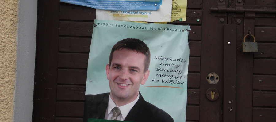Plakaty wyborcze w gminie Barciany
