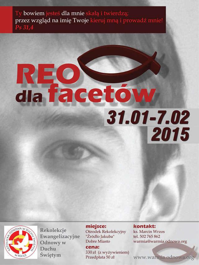 plakat REO dla facetów, 2015