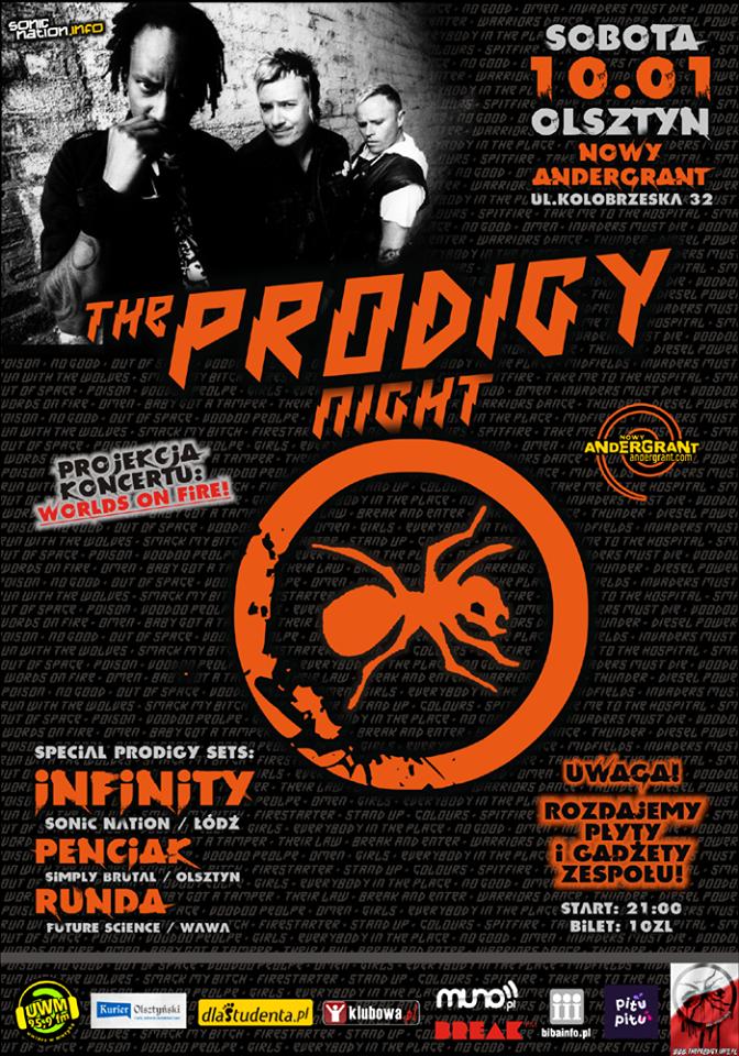 Sonic Nation oraz Nowy Andergrant prezentują: THE PRODIGY Night w Olsztynie