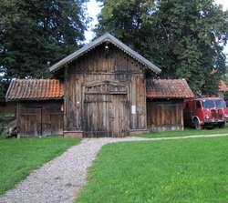 Remiza strażacka w skansenie w Węgorzewie