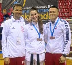 Silna ekipa Startu: Piotr Hatowski (z lewej), trener Marcin Chorzelewski i Aleksandra Kowalczuk