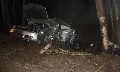 Tragiczny wypadek pod Oleckiem! Dwie osoby zginęły na miejscu