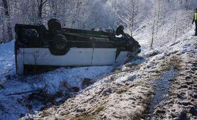 19 osób z Lidzbarka Warmińskiego rannych w wypadku busa
