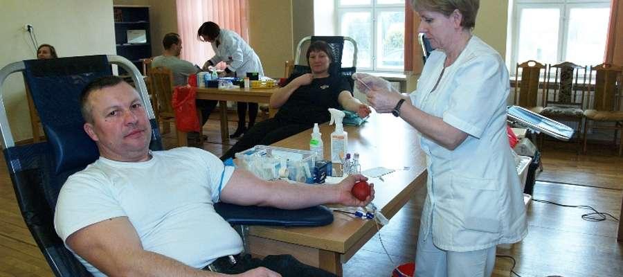Po badaniach krew oddało 18 osób, wśród których 11 osób to członkowie ochotniczych straży pożarnych gminy Wilczęta