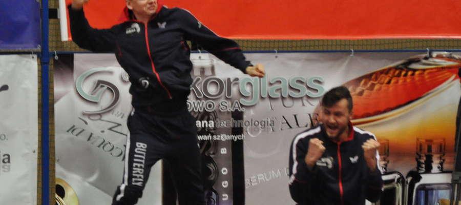 Wielka radość po zwycięstwie była zrozumiała (z lewej Piotr Kołaciński)
