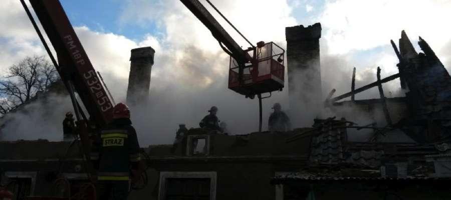 Zgłoszenie o pożarze nastąpiło ok. 8 rano