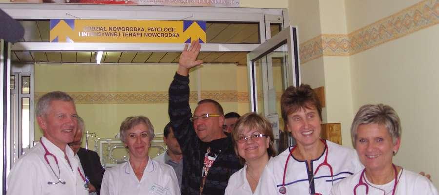 Jerzy Owsiak w szpitalu wojewódzkim w 2010 r