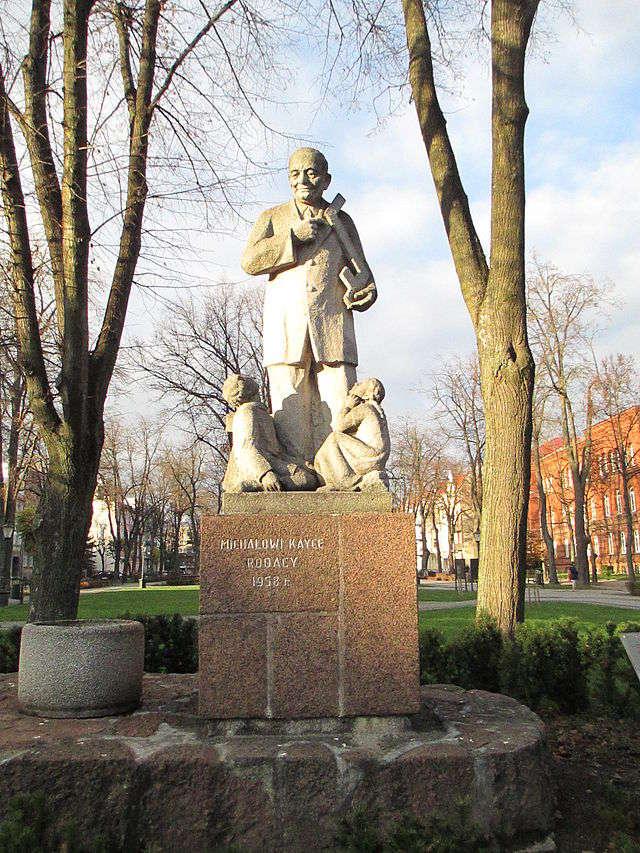 Ełk: Pomnik Michała Kajki - full image