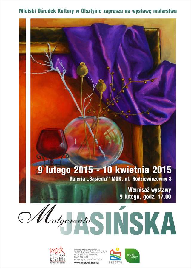 Wystawa malarstwa Małgorzaty Jasińskiej - full image