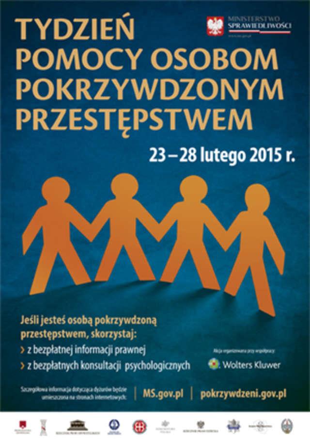 Tydzień Pomocy Ofiarom Przestępstw będzie trwał w dniach 23-28 lutego 2015 r.