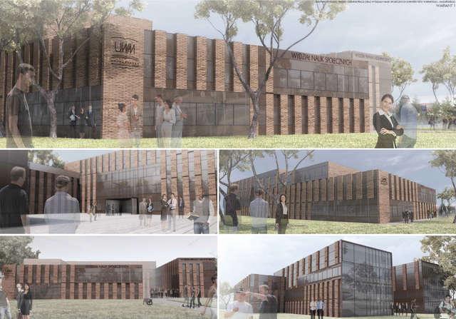 Wizualizacja nowej siedziby dla dwóch wydziałów - wariant 1 - full image