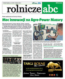 Rolnicze ABC - wrzesień 2013