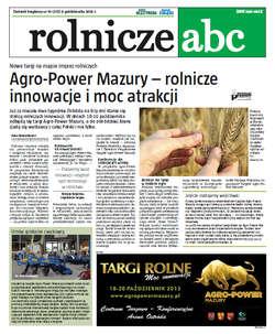 Rolnicze ABC - październik 2013