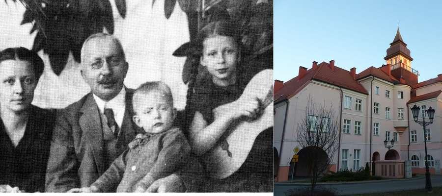 Duchowe dziecko burmistrza Giese (na zdjęciu z rodziną) zabrało mu ukochanego syna