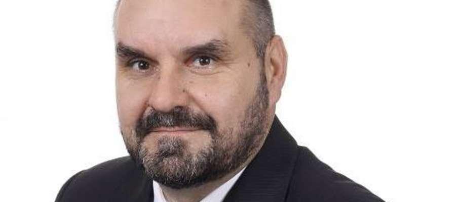 Wójt gminy Rybno Tomasz Węgrzynowski