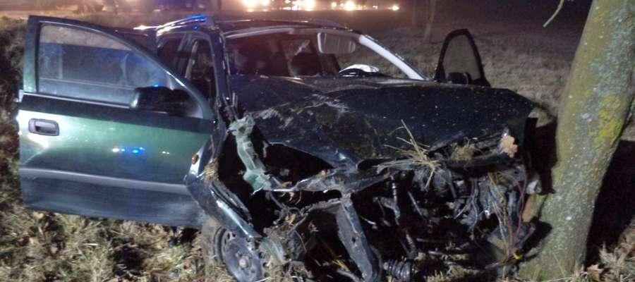 Wypadek do jakiego doszło 13 lutego w pobliży Kinkajm.