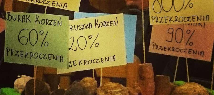Mieszkańcy Korsz na poniedziałkowej sesji pojawili się z transparentami.