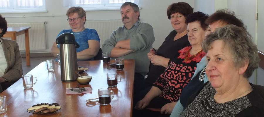 Na spotkanie z pisarką przyszło sporo mieszkańców Kisielic