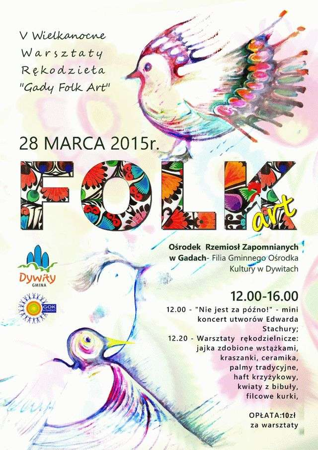 Zapraszamy na Gady Folk Art!  - full image