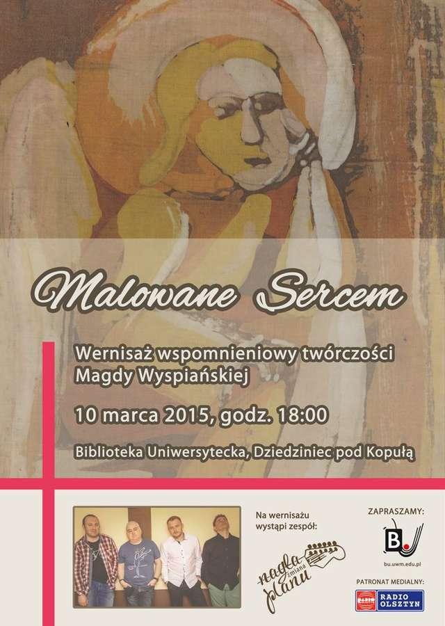 Malowane sercem - wernisaż prac Magdaleny Wyspiańskiej - full image