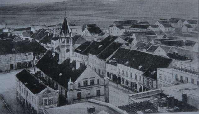 Starówka z ratuszem, 1913 r. - full image