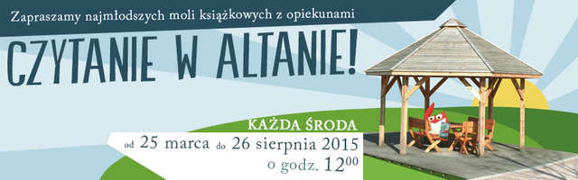 Czytanie w Altanie. Zapraszamy do Parku Centralnego - full image