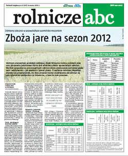 Rolnicze ABC - marzec 2012