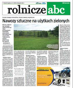 Rolnicze ABC - listopad 2012