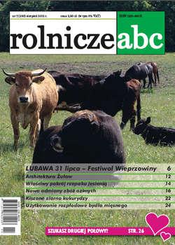 Rolnicze ABC - sierpień 2011