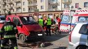 Wypadek na Paderewskiego. Ranną 26-latkę zabrał śmigłowiec