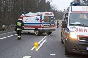 Wypadek na na DK16. Cztery osoby ranne