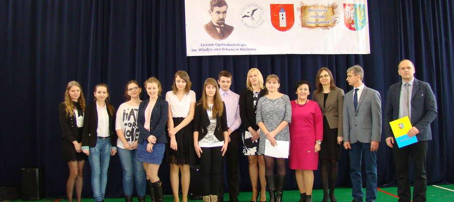 Laureaci Powiatowego Konkursu Poetyckiego im. W. Orkana