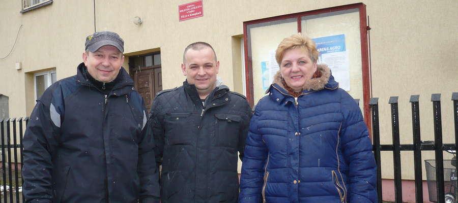 Wojciech Pietruś, Krzysztof Kowalkowski i Anna Chojnowska uważają, że fundusz sołecki w gminie jest potrzebny