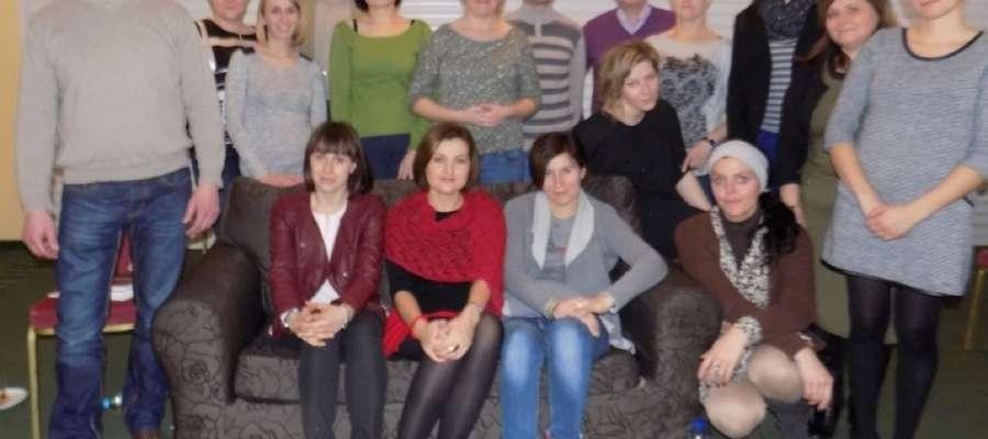 Pamiątkowe zdjęcie uczestników projektu unijnego