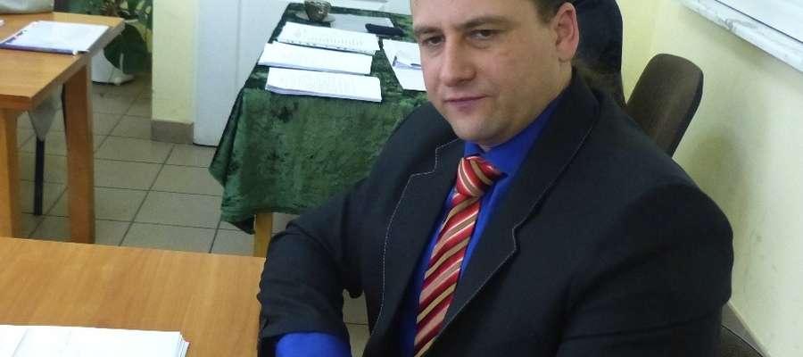 Burmistrz Kisielic Rafał Ryszczuk