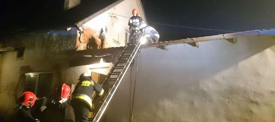 W Łankiejmach działały cztery zastępy strażaków.