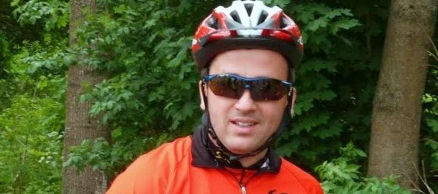 Przed Mariuszem Pachlą 3000 kilometrów, które w drodze do Hiszpanii pokona na rowerze.