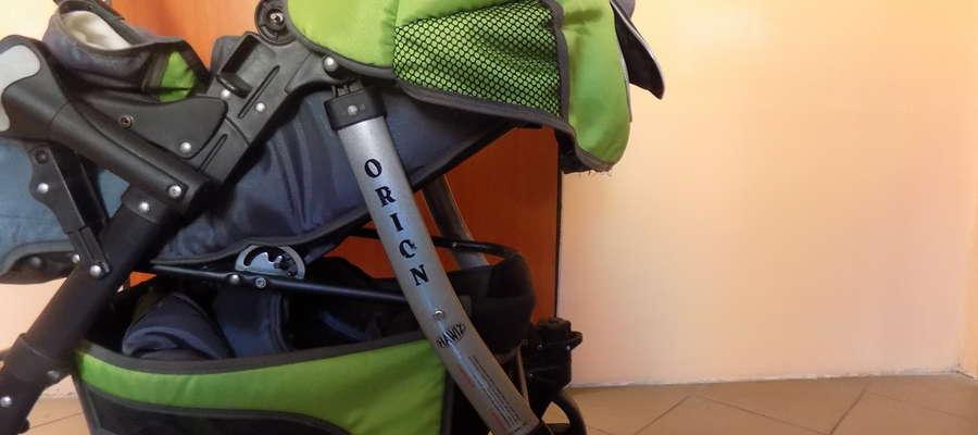 Wózek został znaleziony w zaroślach na tyłach poczty przy ul. Mazurskiej
