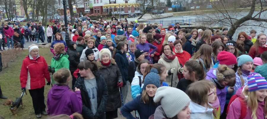 Start zeszłorocznego biegu wokół Małego Jezioraka