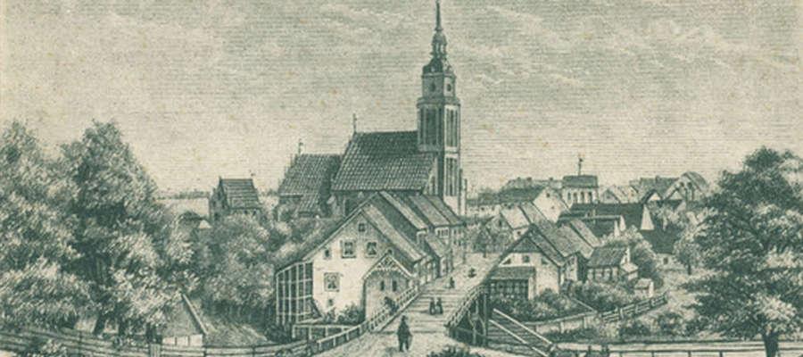 W 1872 roku most nad Łyną jeszcze byl drewniany.