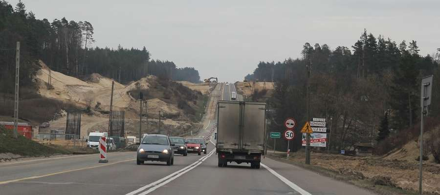 W Piławkach na trasie Ostróda-Miłomłyn prace idą pełną parą