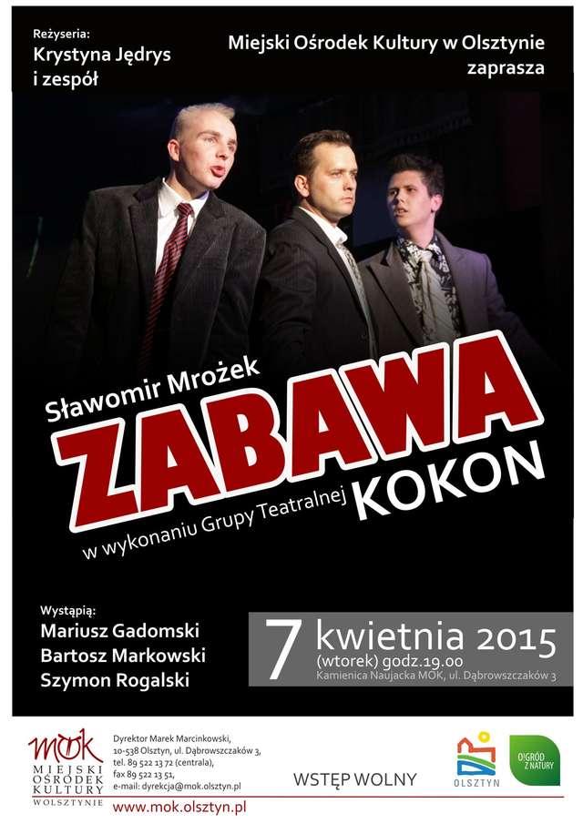 "Spektakl Grupy Teatralnej ""Kokon"" pt. ""Zabawa"" - full image"