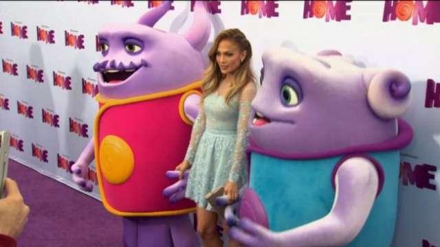 Rihanna i Jennifer Lopez - czyli gwiazdy na premierze bajki Dom - full image